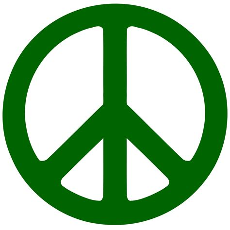 peace sign green peace signs clipart best