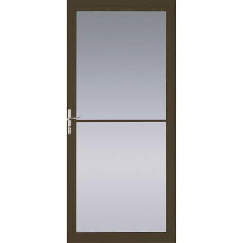 pella retractable screen door shop pella montgomery brown view aluminum retractable