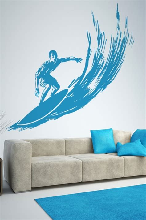 surf wall stickers wall decals surfer walltat without boundaries