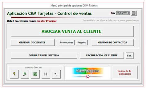 Software Gratuito palentino blog plantilla access crm control de tarjetas