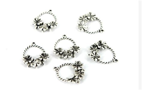 jewelry material wholesale 20pcs lot classical four clover bronze twisted