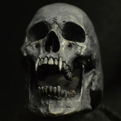 Open Jaw 925 Sterling Silver Skull Ring