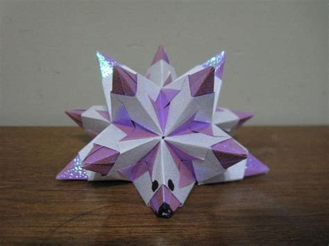 origami bascetta wanna be hedgehog p is actually 3 4 s of a origami