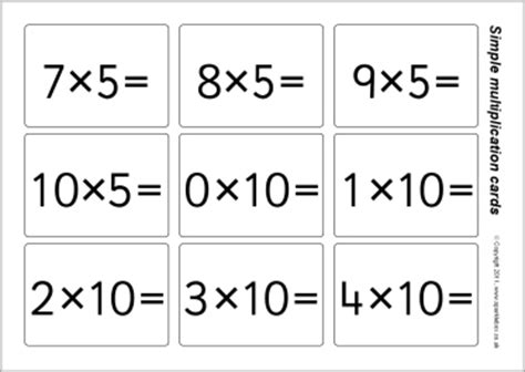 how to make multiplication flash cards simple multiplication flash cards 2 5 and 10 times