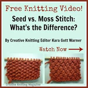 how to knit seed stitch free knitting quot seed vs moss stitch what s the