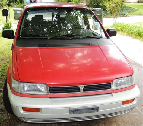 old car owners manuals 1994 mitsubishi expo on board diagnostic system 1994 mitsubishi expo base 4 door minivan 5 speed stick shift rare red silver for sale