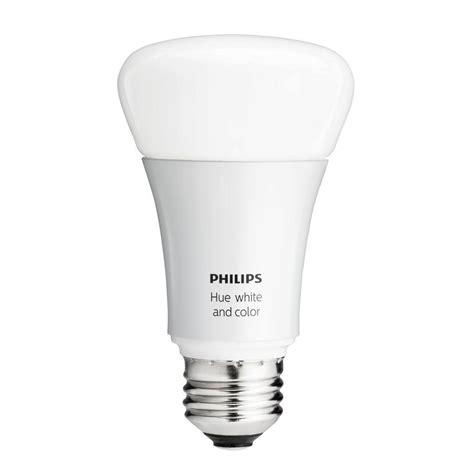 single led light bulb philips hue 60w equivalence white and color ambiance a19