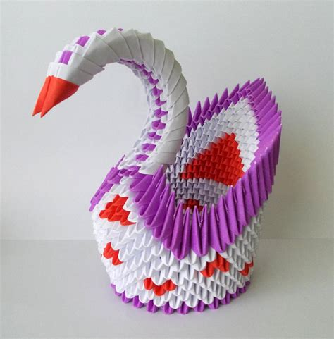 3d swan origami 3d origami swan by designermetin on deviantart
