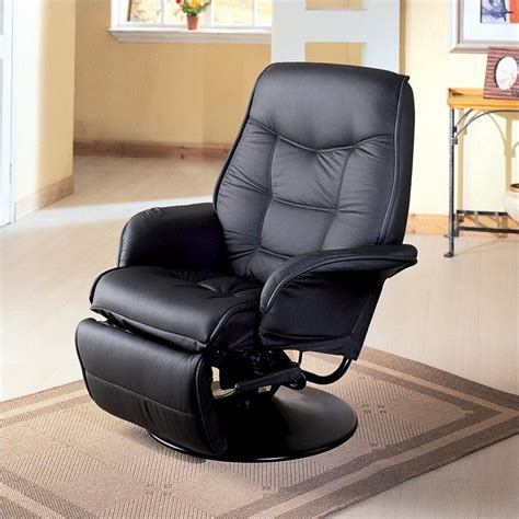 swivel leather recliner chair coaster furniture faux leather swivel recliner chair in