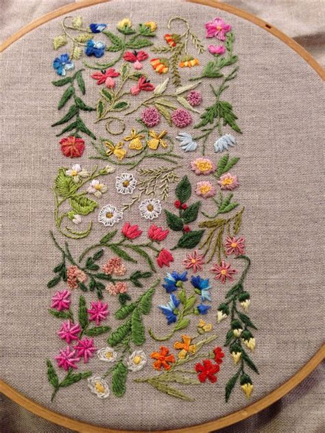 embroidery ideas best 25 flower embroidery ideas on