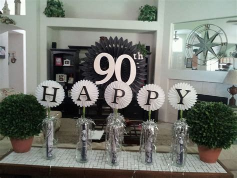 90th birthday centerpiece ideas cake table decorations for 90th birthday gpa 90th