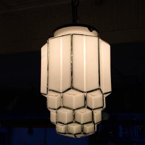 milk glass pendant light deco tiered milk glass skyscraper pendant light at 1stdibs