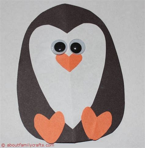 penguin crafts how to make paper animals about family crafts