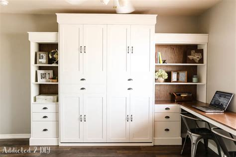 murphy bed with shelves white modern farmhouse murphy bed and bookcase