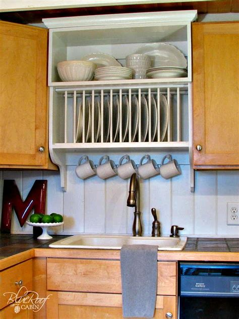 kitchen cabinet plate rack upgrade cabinets by building a custom plate rack shelf construction home business