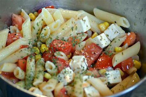 recette de salade de p 226 tes 224 la feta rapide