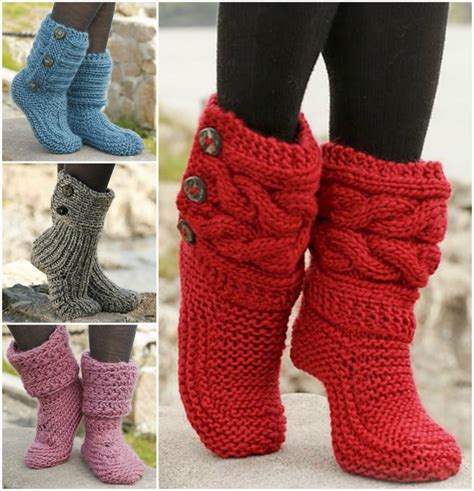 free slipper patterns to knit or crochet 8 free knitted crochet slipper boots patterns beesdiy