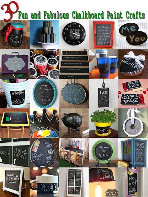 chalkboard paint crafts 30 things to make with chalkboard paint about family crafts