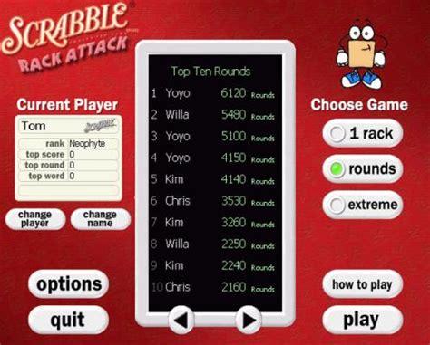 scrabble sprint flash play free scrabble rack attack play scrabble