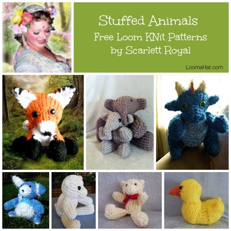 how to knit a stuffed animal loom knit stuffed animals loomahat