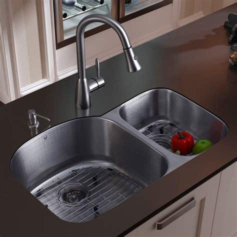 metal kitchen sinks vigo platinum offset undermount stainless steel