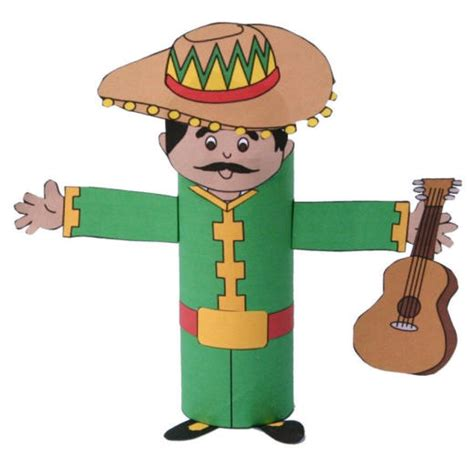 mexican craft for mariachi toilet paper roll craft