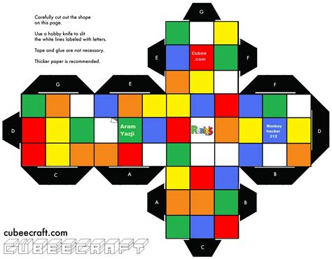 how to make a cube out of card rubik s cube template search totally 80 s