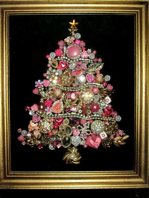 how to make a costume jewelry tree costume jewelry tree framed pink rhinestones home