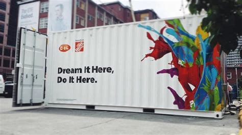 home depot paint delivery shipping container buildings restaurants homes houses
