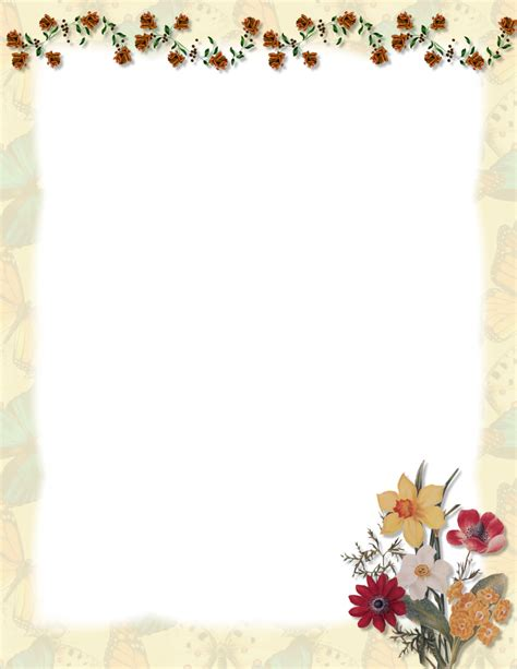 floral stationery theme free page 1