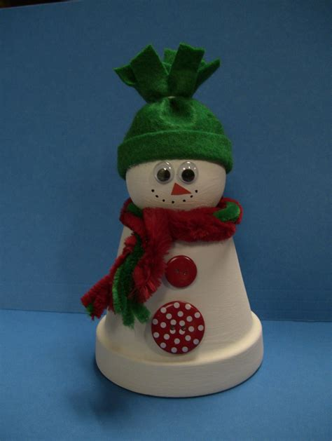 clay pot crafts for painting clay pots ideas flower pot snowman the