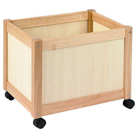 buy wooden buy crane multi storage bin on wheels wooden