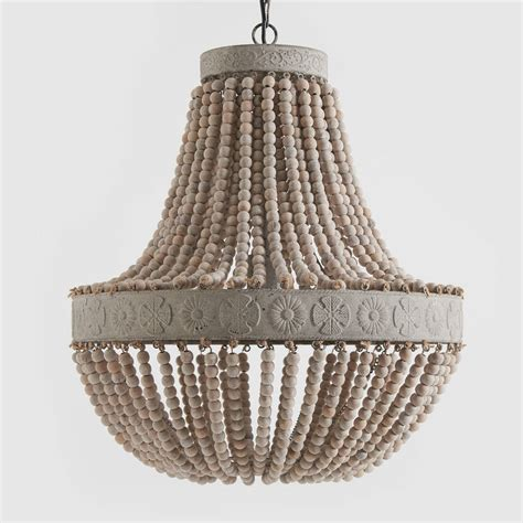how to make a bead chandelier anvers wooden bead chandelier by horsfall wright