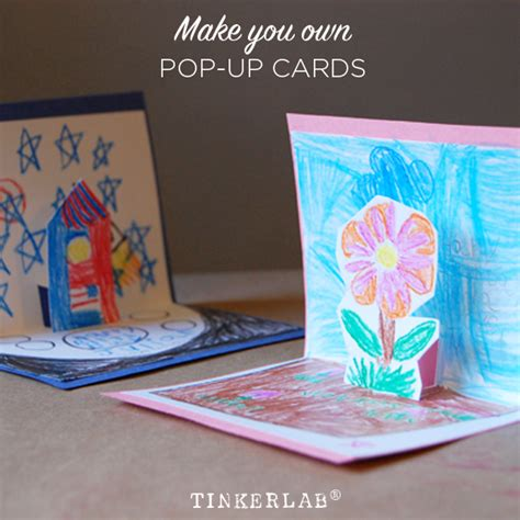 how to make av fold pop up card how to make pop up cards tinkerlab