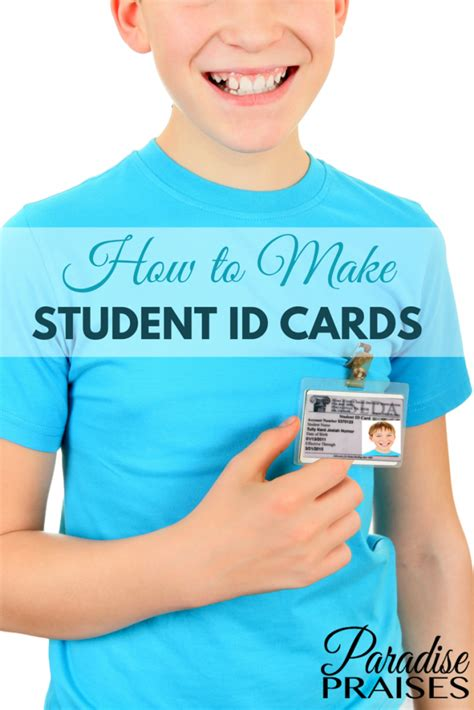 how to make a student id card how to make student id cards free printable