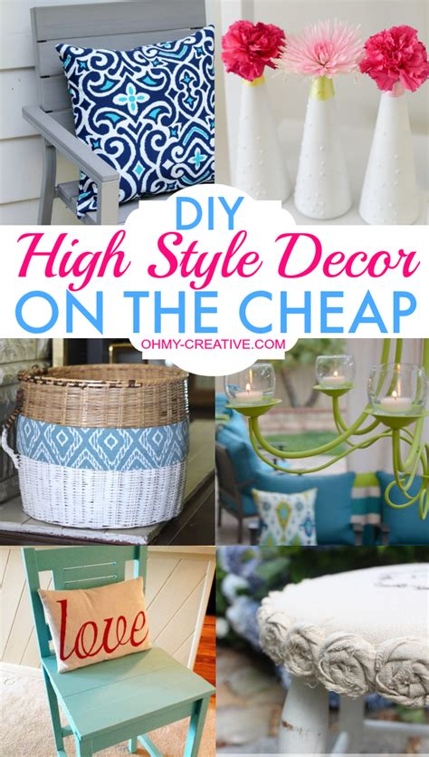 cheap craft ideas for diy high style decor on the cheap oh my creative