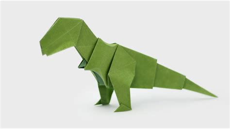 origami easy dinosaur origami t rex jo nakashima dinosaur 5 doovi