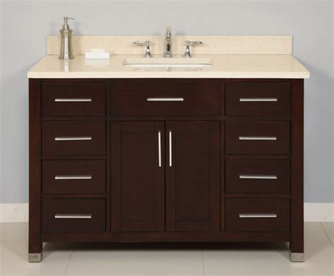 48 inch bathroom vanity with top and sink 48 inch single sink modern cherry bathroom vanity
