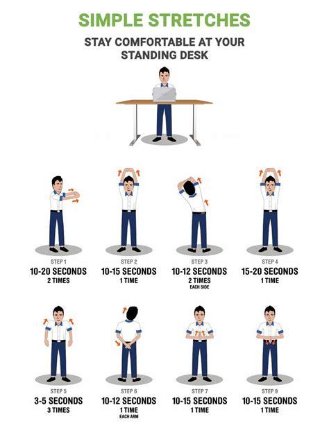 standing desk exercises standing desk simple stretches multitable