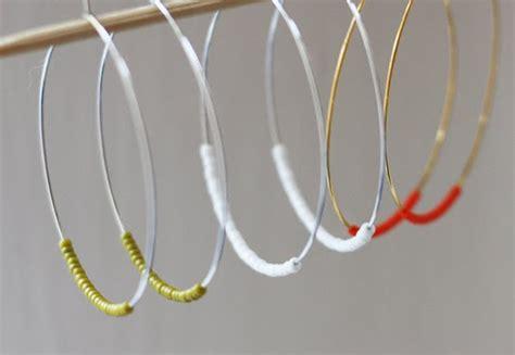 diy beaded hoop earrings handmade gift inspiration easy diy beaded hoop earrings