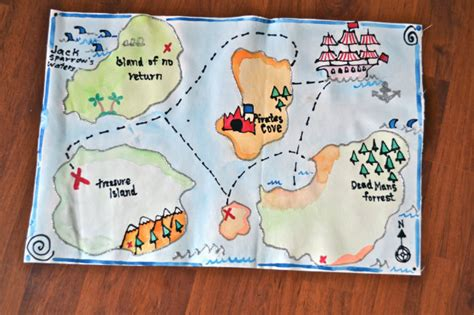 map crafts for handmade treasure map