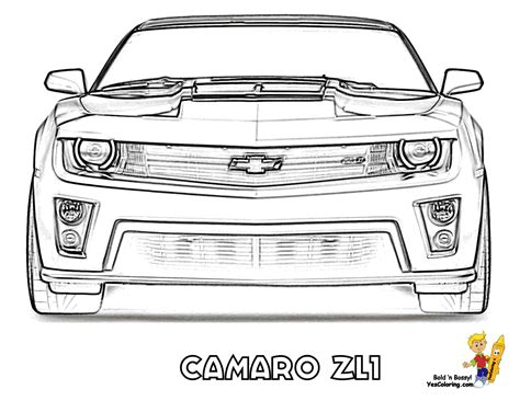 coloring pages impressive camaro coloring pages 07 zl1