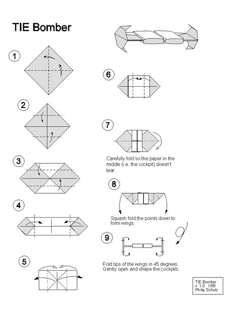 origami tie fighter extremegami how to make a origami tie bomber