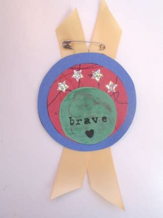 courage crafts for make a bravery badge activity education
