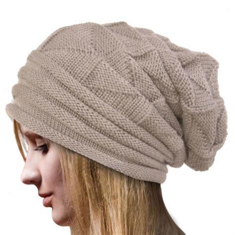 wool knit cap winter crochet hat wool knit beanie warm caps casual