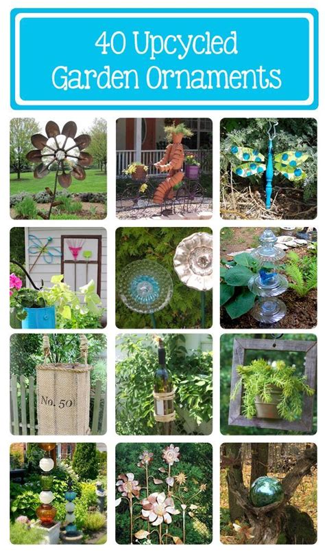 garden ornament ideas 1000 ideas about recycled garden crafts on