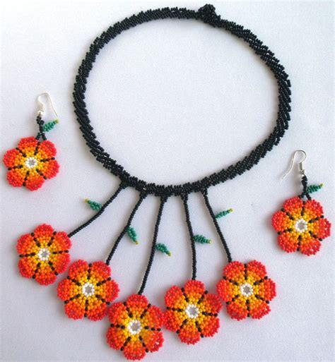 mexican beaded necklaces 351 best images about mexican huichol beaded jewelry on