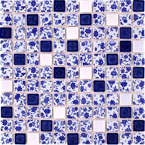 Bathroom Tiles Blue And White by Blue And White Tile Glossy Porcelain Mosaic Bathroom Tiles