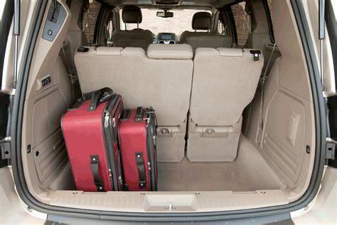 Minivan Cargo Space by Dodge Caravan Cargo Space Dimensions Car Interior Design
