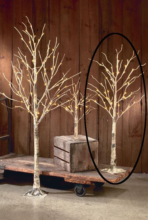 lighted tree branches decorative led lighted brown birch tree branch accent 52